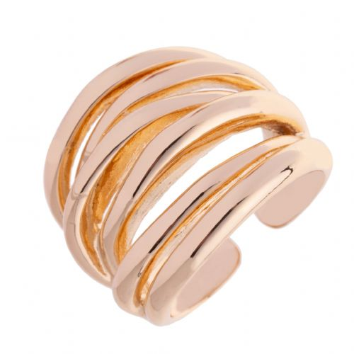Bisoux Jewelery Chunky Multi Loop Ring in Gold